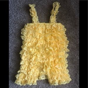 Other - Yellow, 3T lace romper